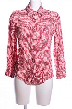 Liviana Conti Langarm-Bluse rot-weiß Allover-Druck Business-Look