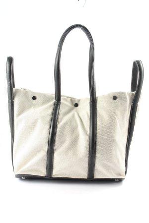 Liviana Conti Torba shopper biały-czarny W stylu casual