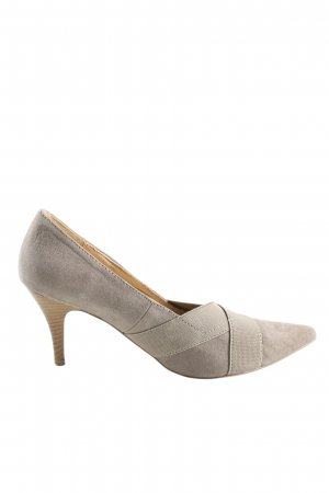 Living Updated Spitz-Pumps hellgrau Business-Look
