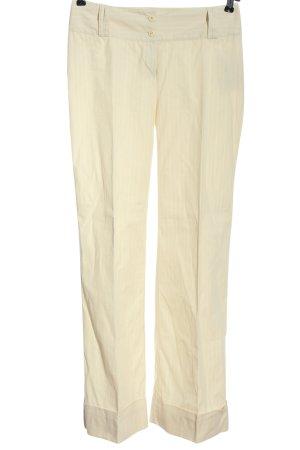 Livre Pantalon à pinces crème-blanc imprimé allover style décontracté