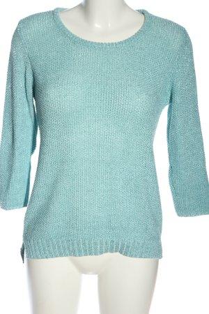 Livre Crochet Shirt turquoise casual look