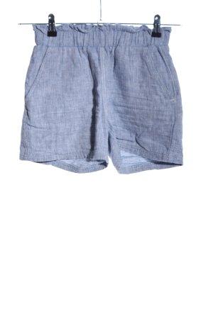 Livre Pantaloncino a vita alta blu puntinato stile casual