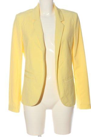 Livre Klassischer Blazer giallo pallido stile casual