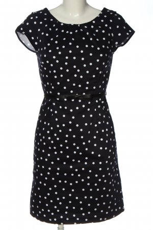 Livre Kurzarmkleid schwarz-weiß Punktemuster Casual-Look