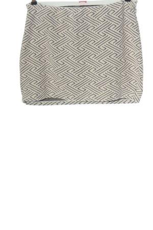 Livre Miniskirt natural white-black allover print casual look