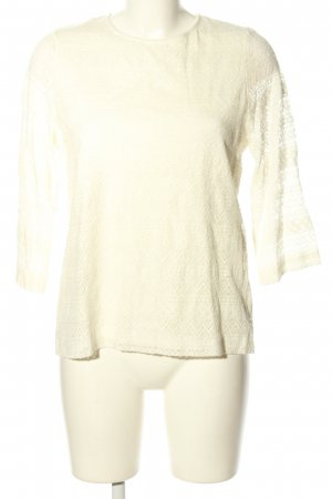 Livre Lace Blouse natural white flower pattern casual look