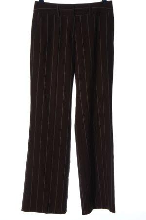 Livre Stoffhose schwarz-creme Streifenmuster Business-Look