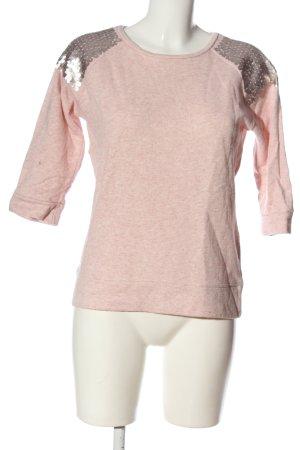 Livre Sweat Shirt pink flecked casual look