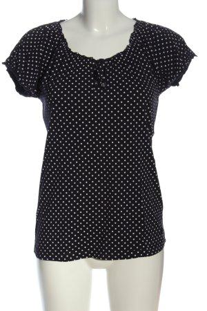 Livre T-Shirt black-white spot pattern casual look