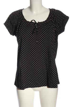 Livre Boatneck Shirt black-pink spot pattern casual look