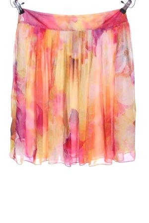 Liz Claiborne Glockenrock blassgelb-pink Allover-Druck Casual-Look