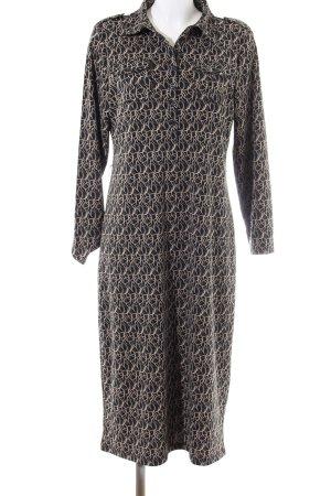 Liz Claiborne Maxikleid schwarz-creme abstraktes Muster Casual-Look