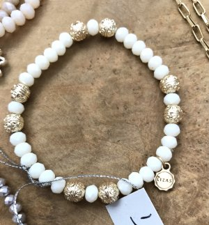 Lizas Bracelet blanc-doré