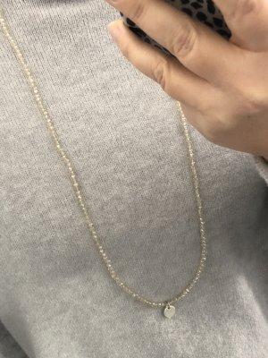 Lizas lange Perlenhalskette silber funkelnd klar Kette Schmuck