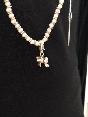 Lizas Perlenkette mit Charms rosegold Ananas und Schleife