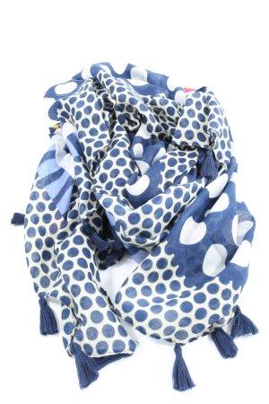 Lizas Schoudersjaal blauw-wit volledige print casual uitstraling