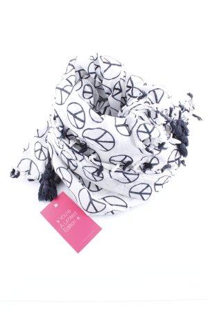 Lizas Sommerschal weiß-schwarz Motivdruck Casual-Look