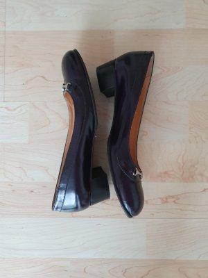 Lloyd Mary Jane pumps bruin-paars-donkerpaars