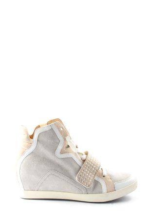 Lloyd Absatz Sneaker hellgrau-nude Casual-Look
