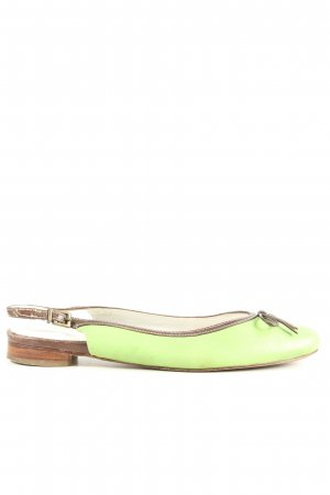 Lloyd Ballerinas mit Spitze grün-braun Casual-Look
