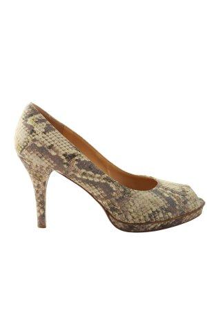 Lloyd High Heel Sandaletten braun-wollweiß Animalmuster Elegant