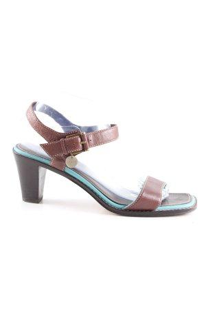 Lloyd High Heel Sandaletten braun-türkis Casual-Look