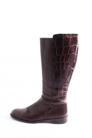 Lloyd Wide Calf Boots lilac animal pattern casual look