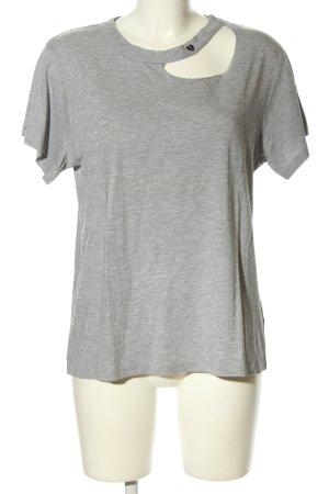 Lna T-shirt grigio chiaro puntinato stile casual