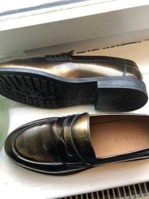 Esprit Moccasins bronze-colored leather
