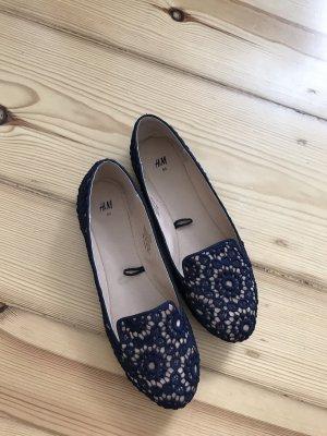 H&M Slip-on Shoes dark blue-nude
