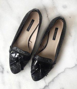 Zara Woman Mocassins zwart