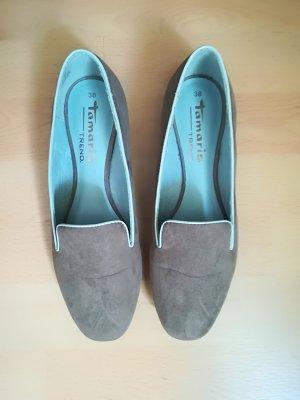 Tamaris Pantoffels grijs-bruin-lichtblauw