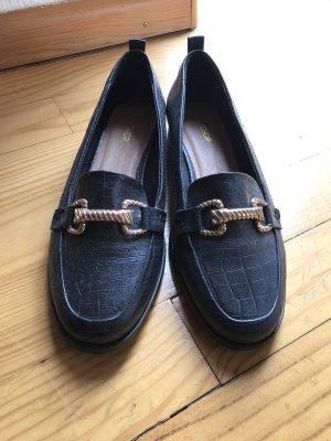 Loafer mit goldener Schnalle veganes Leder Topshop 40 neu