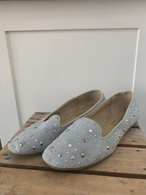 Loafer/Mokassins mit Nieten und Steinchen