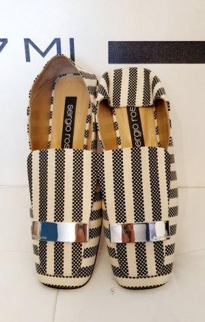 Sergio Rossi Zapatos sin cordones blanco-gris Cuero