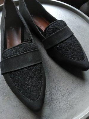 H&M Babouche noir tissu mixte