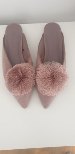H&M Slippers dusky pink
