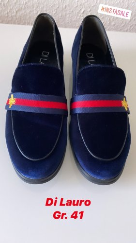 Loafer Slipper Samt blau GucciBiene Gr 41