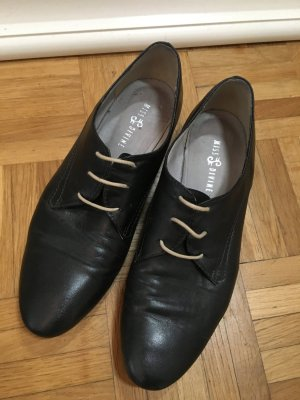 Oxfords zwart Leer