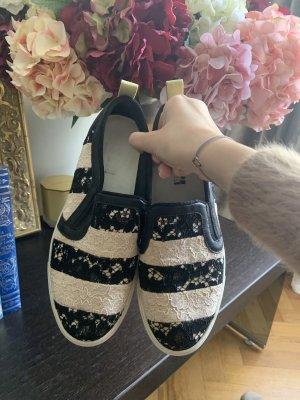 MSGM Wedge Sneaker white-black