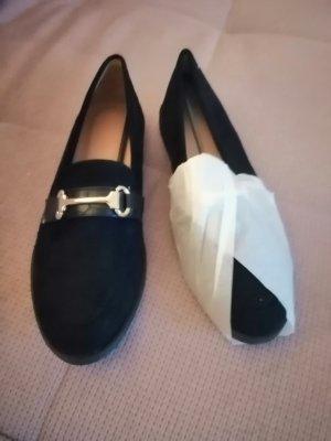 Loafers schwarz mit Gold