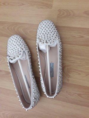 Prada Pantofola argento-bianco sporco