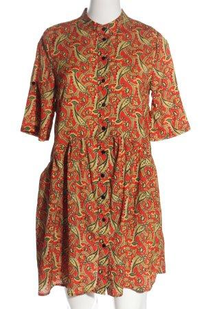 Loavies Blusenkleid rot-creme abstraktes Muster Casual-Look