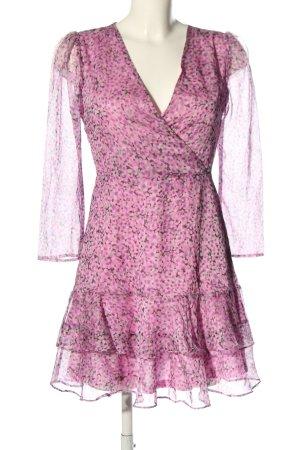 Loavies Blusenkleid pink Allover-Druck Business-Look