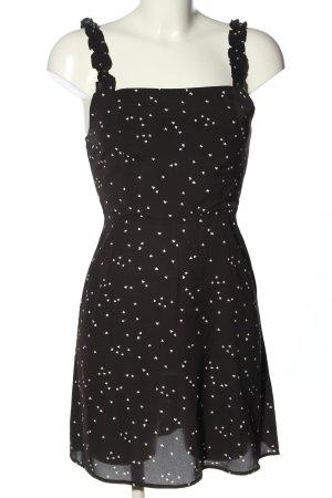 Loavies Blusenkleid schwarz-wollweiß abstraktes Muster Casual-Look