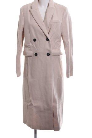 Loavies bodenlanger Mantel pink Business-Look