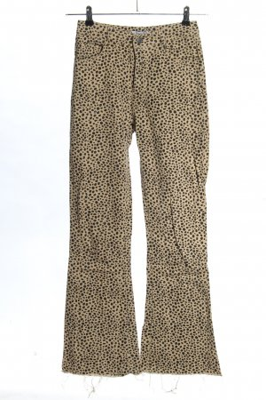 Loavies Boot Cut Jeans creme-schwarz Allover-Druck Elegant