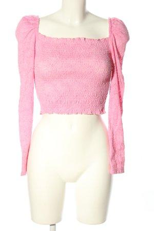 Loavies Cropped Shirt pink Elegant