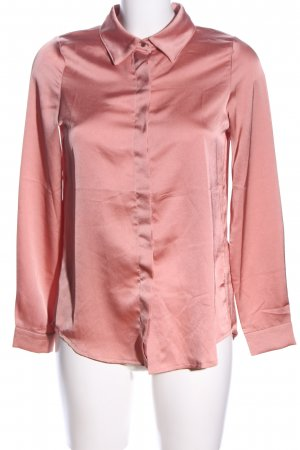 Loavies Glanzbluse pink Business-Look