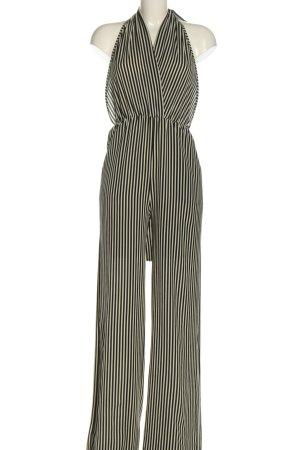 Loavies Jumpsuit weiß-schwarz Streifenmuster Casual-Look